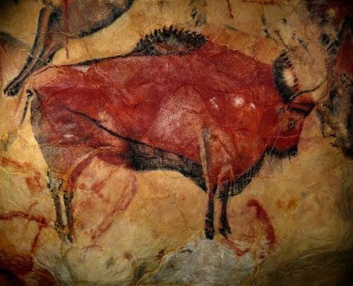 Pintura rupestre en la cueva de Altamira