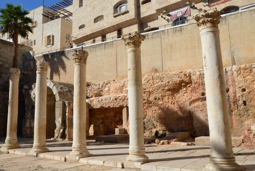 Reconstructed section of the Cardo Maximus of Aelia Capitolina (Jerusalem)