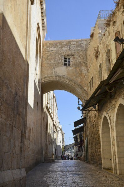 Ecce Homo arch, a triple-arched gateway in Jerusalem