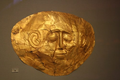 Mycenaean Gold Death Mask