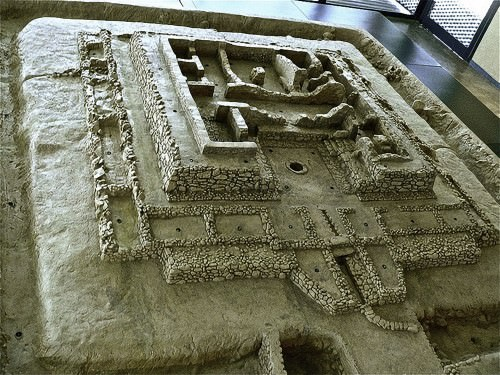 A model of the Tartessian site of Cancho Roano, Extremadura, Spain