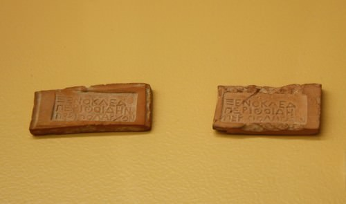 Greek Clay Passport Tokens