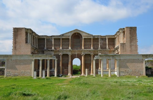 El complejo Bath-Gymnasium en Sardis