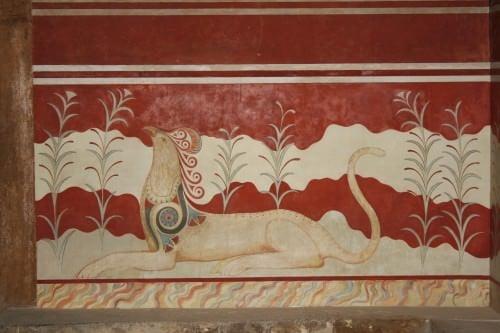 Griffin Fresco, Knossos, Creta