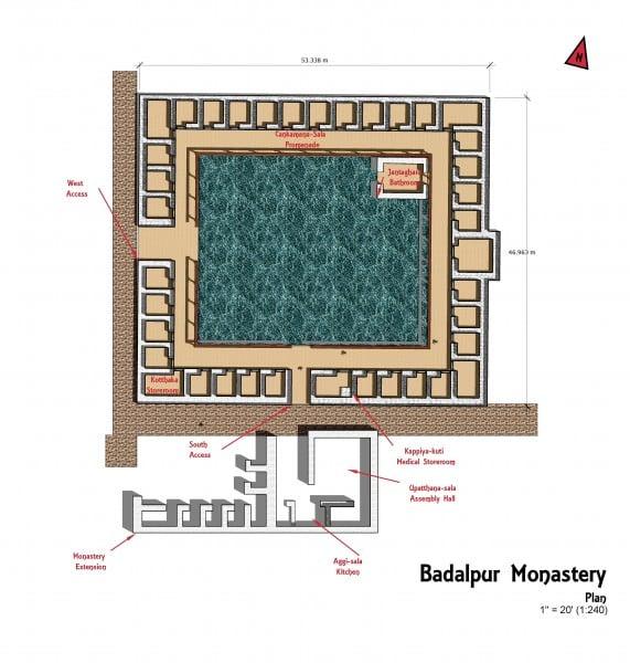 Plan del monasterio budista (Gandharan)