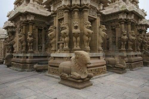 Vimana, templo de Kailasanatha, Kanchipuram