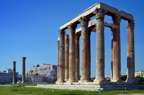 The Temple of Olympian Zeus, Athens