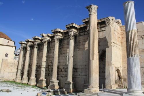 Fachada, Biblioteca de Adriano, Atenas
