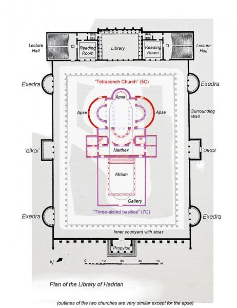 Plan of Hadrian's Library