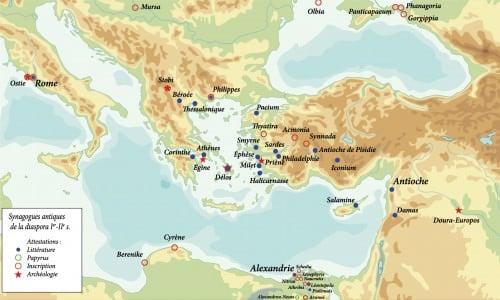 Mapa de antiguas sinagogas