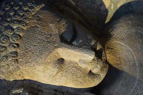 Buda descansando en Ajanta