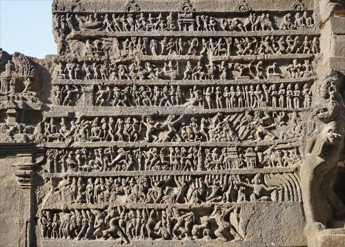 Escalera del templo de Kailasa, Ellora