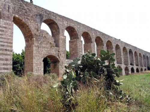 A portion of the aqueduct built by Jezzar Pasha as it stands today near Tel Kabri.