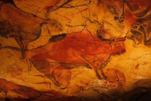 Paleolithic Cave Painting in Altamira Cave