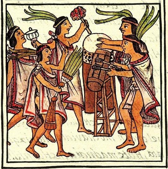 Músicos aztecas