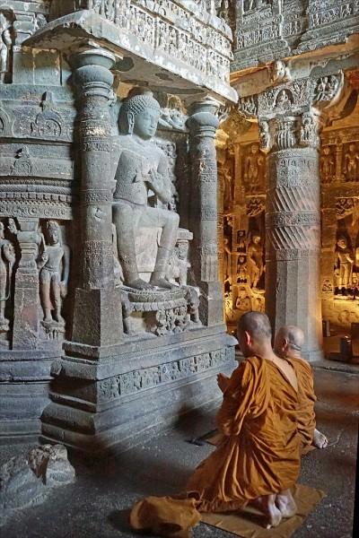 Stupa en Ajanta
