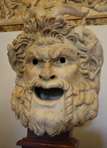Satyr Mask Illustration Ancient History Encyclopedia