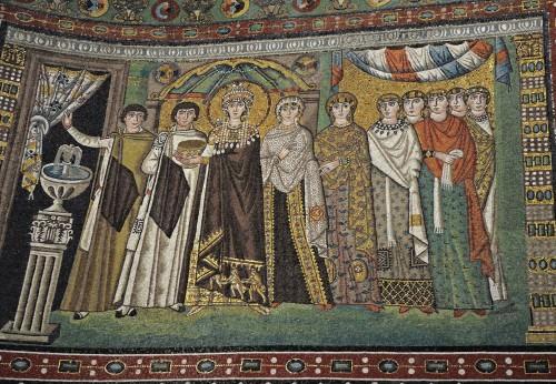 La emperatriz Teodora y su corte