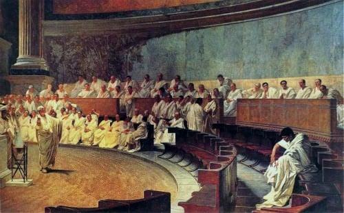 Cicero denuncia a Catilina