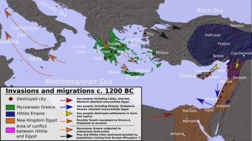 Invasiones y migraciones del Mediterráneo en la Edad del Bronce