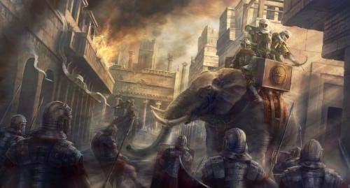 Elefante de la guerra cartaginesa