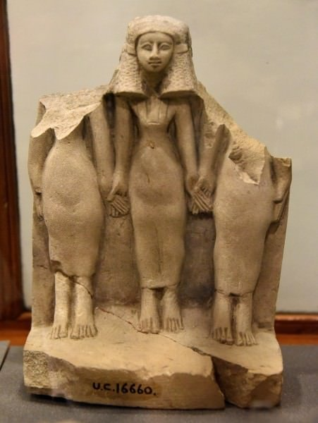 Statuette of a triad of women from Egypt