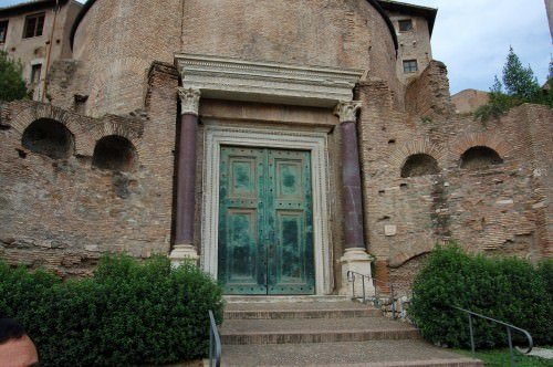 Door of The Temple of Divus Romulus