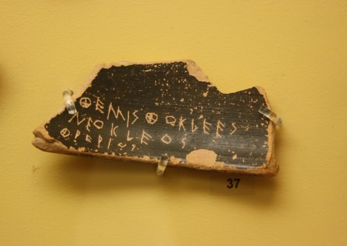 Ostracon para Temístocles