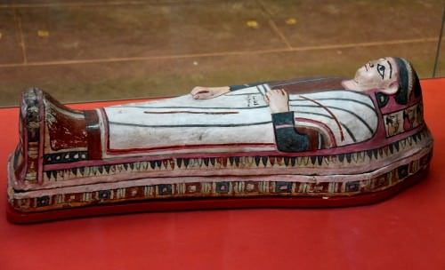Painted Mummy Case of a Boy Named Pemsais