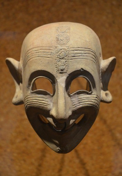 Phoenician-Punic Grinning Mask