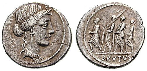 Roman Coin Depicting Lictors Carrying Fasces