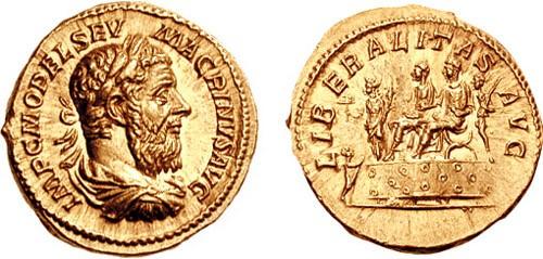 Aureus de Macrinus