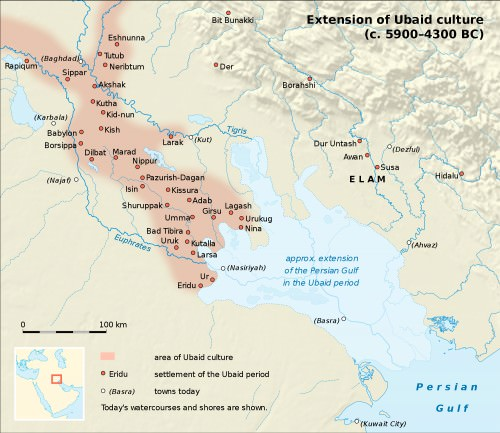 Map of Ubaid Culture