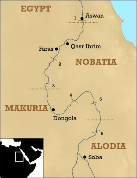 Mapa do Sul do Egito / Núbia
