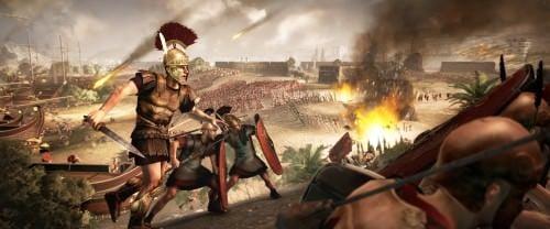 Ataque de la playa romana