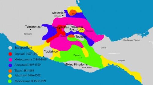 Expansión del imperio azteca