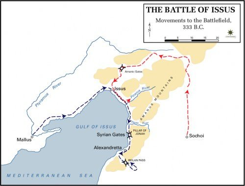 The Battle of Issus - Movements to the Battlefield