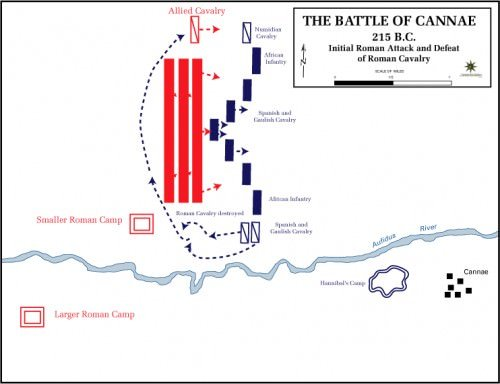 Battle of Cannae - Initial Deployment