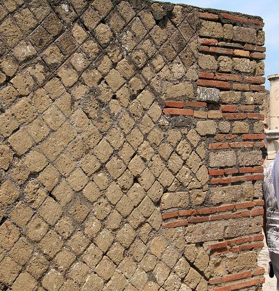 Opus Reticulatum Wall, Pompeii