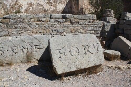 Inscripción de piedras, foro de Saguntum