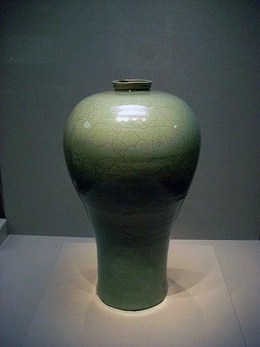 Maebyeong Celadon florero, dinastía Goryeo