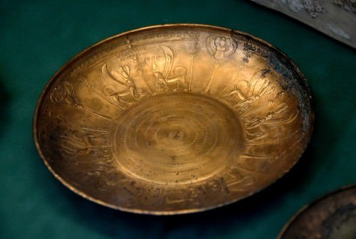 Phoenician Bronze Bowl From Nimrud