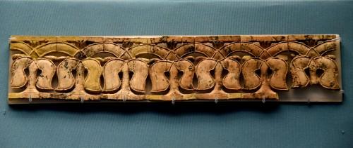 Nimrud Ivory Panel de palmeras estilizadas