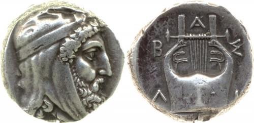 Moneda de plata de Tisafernes