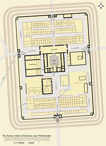 Plan de un fuerte romano típico