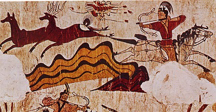 Escena de caza, Mural de la tumba de Goguryeo