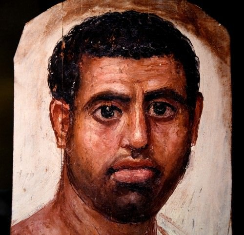 Mummy Portrait of a Man from Fayum