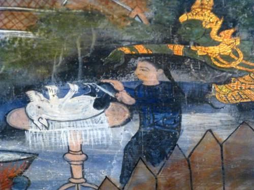 Cunda Preparando a Última Refeição para o Buda