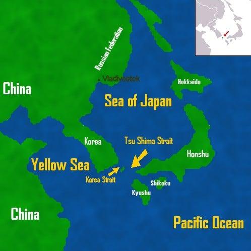 Mapa da Ásia Oriental