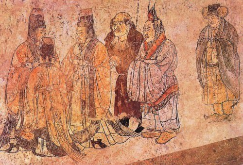 Ancient korean chinese relations article ancient for Chinese mural painting